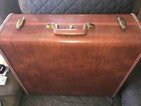 """Vintage SAMSONITE Shwayder Bros 1950's Brown 21"""" Suitcase Luggage Style 4951"""
