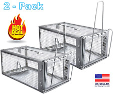 Chipmunks Live Humane Cage Trap for rat mice rodent animal Pest Control - 2 Pack