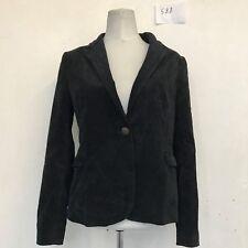 "ZARA Vintage Cord Jacket in Black Large Armpit/armpit 19"" Lgth 25"" (588)"