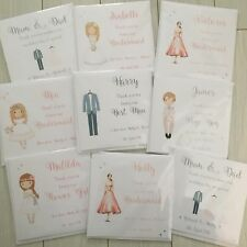 Personalised Thank you for being my Bridesmaid Flower Girl Page Boy Wedding Card