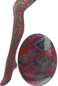 Vivienne Westwood Japan Argyle Orb Pantyhose Stocking Tights-Red & Blk-Size M-L