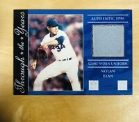 "TEXAS RANGERS NOLAN RYAN ""HOF"" 2002 TOPPS THROUGH THE YEARS JERSEY CARD"