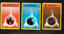 POKEMON CARD - 3 DIFFERENT ENERGY CARDS - BASE SET - 98/102, 102/102, 97/102