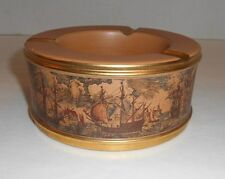 Vintage Florentine Italian Collectible Ship Ashtray Hand Made In Italy 5252/C