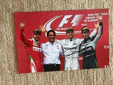 """NICO ROSBERG signed PHOTO BAKU 12 x 7.75"""" MERCEDES AMG F1 2016 WORLD CHAMPION"""