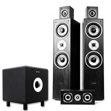 5.0 Surround Sound Speaker System Active Sub Home Cinema Hifi 1350W UK Stock