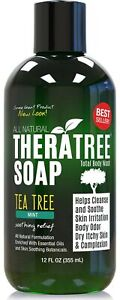 TheraTree Tea Tree Oil Soap with Neem Oil - 12oz - Helps Skin Irritation, Bod...