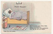 Halt gegen das Licht Ak Prosit Neujahr um 1930 ! (A767