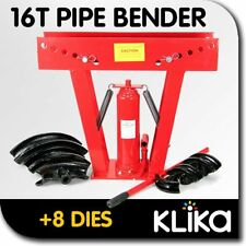 16 TON HYDRAULIC PIPE BENDER with 8 DIES BENDING JACK MACHINE