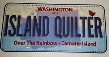 """ISLAND QUILTER 2016 Row by Row Shop License Plate 8"""" x 5"""" FREE US SHIPPING"""