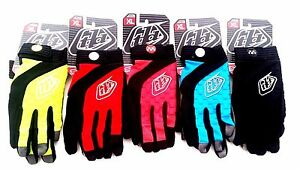 Troy Lee Designs Sprint Gloves Fluorescent Full Finger MTB DH S M L XL brand new