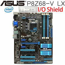 P8Z68-V LX Original ASUS Motherboard LGA 1155 Intel Z68 ATX DDR3 I/O Shield Test