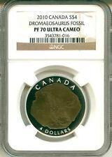 2010 S$4 Canada Dinosaur Dromaeosaurus Fossil NGC PF70 UC