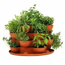 Handy Pantry Stack & Grow Stackable Planter New! - Grow Flowers, Plants & Herbs