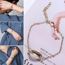 2018 Gold Color Cowrie Shell Bracelet Adjustable Fashionable Chain Bracelet