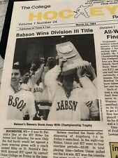 Ncca- Babson Beavers Ein Division 111 Mens Hockey Title Paper
