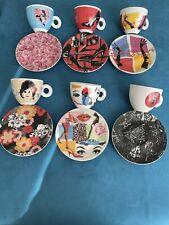 6 Tasses à Cappuccino Illy Art Collection Pedro Almodovar 2009 TRÈS RARE.