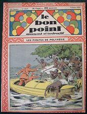 Pirates of Polynesia cover -1932 French Children's Cartoon Magazine Le Bon Point