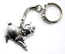Pig keyring Key-ring (keychain)  Hoardersworld Fine English Pewter, Handmade tsh