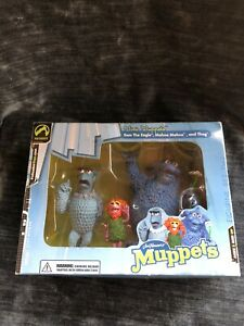 Mini Muppets Figurine Set Two, New in Box - Sam the Eagle, Mahna Mahna, and Thog