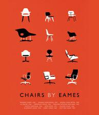 """6"""" x 5"""" Print-Sedie da Eames poster in Arancione (PICTURE Bertoia Knoll opera d'arte)"""