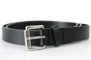 Michael Kors Womens Leather Belt Black, Size L