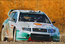 Didier AURIOL SIGNED AUTOGRAPH SKODA Photo AFTAL COA World Rally Championship