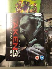 Taken 3 UK Blu-ray UV Copy Ltd Edition Steelbook Extended Cut Liam Neeson
