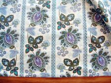 Blue Purple Upholstery Fabric Drapery Curtains 2 Pieces 48 wide 6 yds