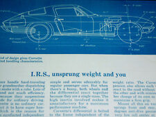 1966 CHEVY CORVETTE ORIGINAL AD-rear suspenension/front/control arm/shock/spring