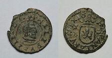ESPAÑA. FELIPE IV.     2 MARAVEDÍS 1663 CUENCA.     MBC