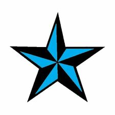 Blue Nautical Star Temporary Tattoo: 2 small tattoos Made in the USA