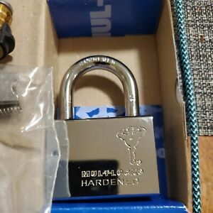 """MUL-T-LOCK C10 PADLOCK 3/8"""" Pop Up SHACKLE HIGH SECURITY Silver Interactive 206"""