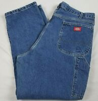 Dickies Carpenter Jeans Mens 40 x 30 Relaxed Fit  Blue Denim Work Pants 1993SNB