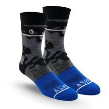 ASHER BLUE LINE GOLF SOCKS, ENGINEERED ARCH SUPPORT MOISTURE WICKING LUXURY!