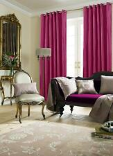 Just Contempo Faux Silk Eyelet Lined Curtains Pink 90x90 Inches