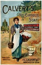 Calverts Carbolic Soap No:5 Vintage Advertising Art Print/Poster