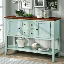 Home Buffet Furniture Wood Sideboard Console Table with Bottom Shelf 2020