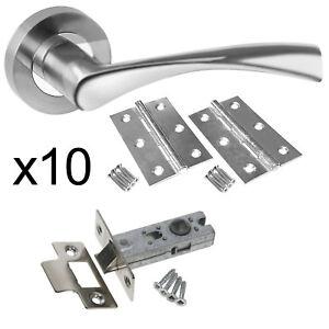 Astrid Chrome Internal Door Handle Pack - Latch Door Handle Packs 10 Lacth Packs