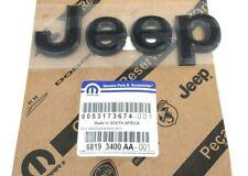 2013-2020 Jeep Grand Cherokee front hood gloss black Nameplate Emblem Decal OEM