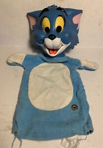 Vtg 1960s Mattel TOM AND JERRY Pull String TALKING Puppet Toy