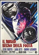 CINEMA-manifesto IL ROSSO SEGNO DELLA FOLLIA forsyth, betti, lassander, BAVA