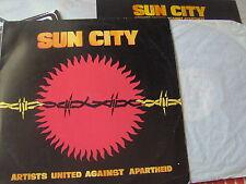 LP SUN CITY ARTISTS UNITED AGAINST APARTHEID N/MINT DYLAN SPRINSTEEN BONO L.REED