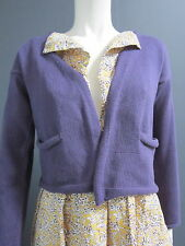 DANIELA GREGIS 100 % linen cardigan NEW with TAG purple pockets in front