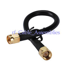 10FT SMA plug to male Adapter RF Pigtail Coax Cable KSR195 3m for wifi antenna