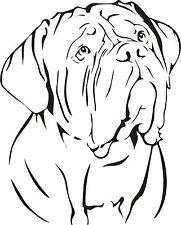 DOGUE DE BORDEAUX FRENCH MASTIFF DOG CAR DECAL STICKER