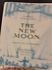 THE NEW MOON - SIGMUND ROMBERG Piano selection   Sheet Music   1929