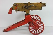 Antique GREY IRON CASTING CO. 1920's Rapid Fire Toy Machine Gun for Restoration