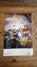 Super Smash Bros. Brawl 15.5''x11.5'' Nintendo Power Double Sided Poster