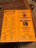 1971 Railroad Employee Timetable ETT Atchison Topeka & SANTA FE  #19 LA! Vintage